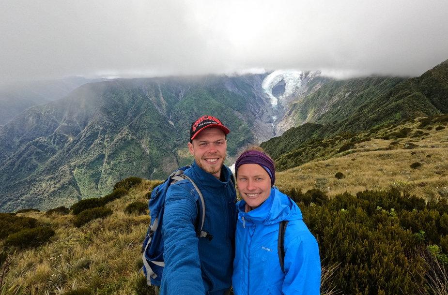 Vaidui ir Agnei už nugarų – Franzo Josefo ledynas