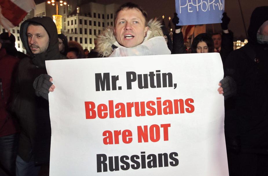 Protestas prieš Baltarusijos integraciją į Rusiją 2019 metais Minske