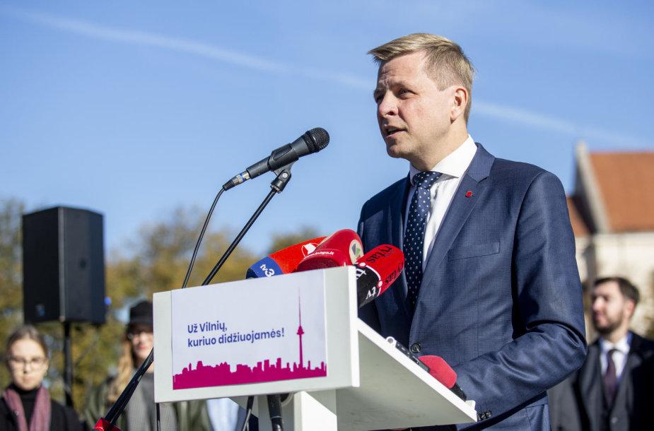 Remigijus Šimašius pristatė savo sprendimą antrą kartą kandidatuoti į Vilniaus mero postą