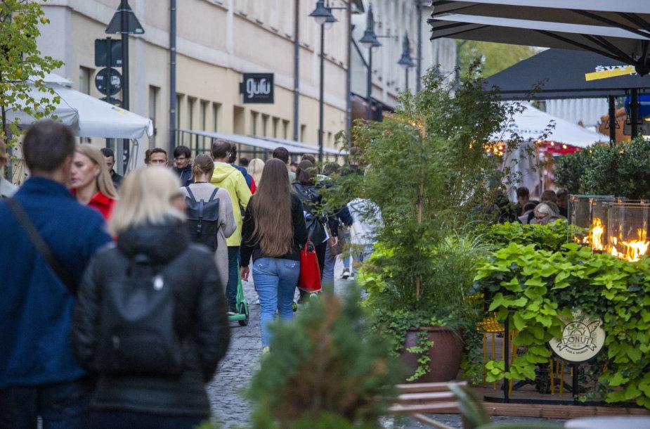 Trečiadienio vakaras Vilniaus mieste
