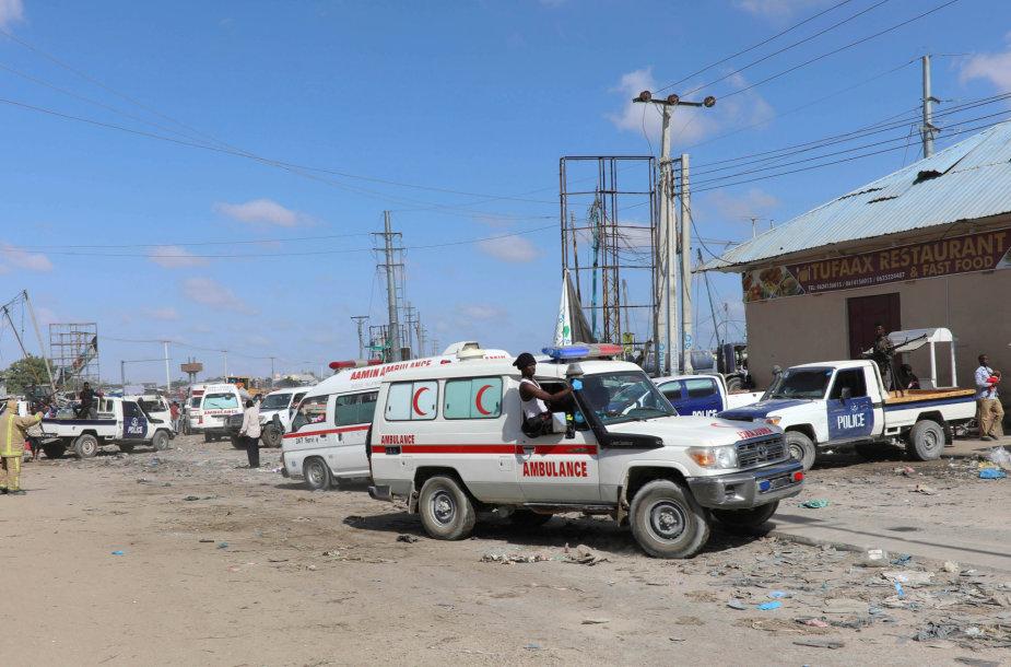 Somalio sostinėje sprogo užminuotas sunkvežimis