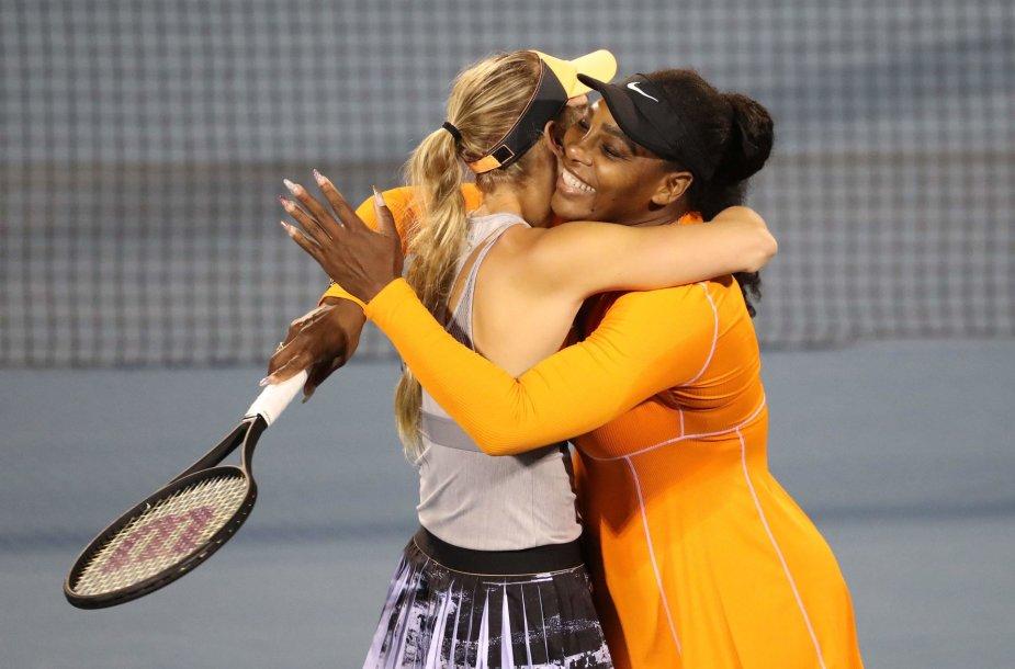 Caroline Wozniacki ir Serena Williams