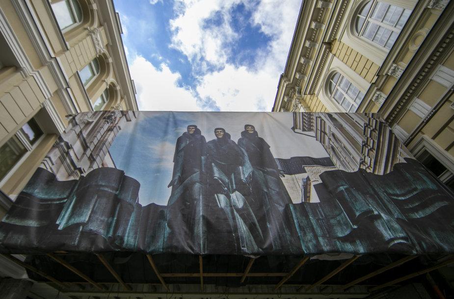 Ekskursija po rekonstruojamą Lietuvos nacionalinį dramos teatrą
