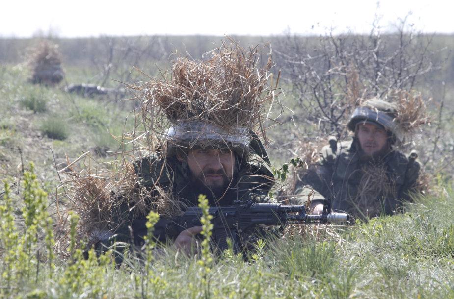 Prorusiški separatistai Ukrainos Luhansko srityje