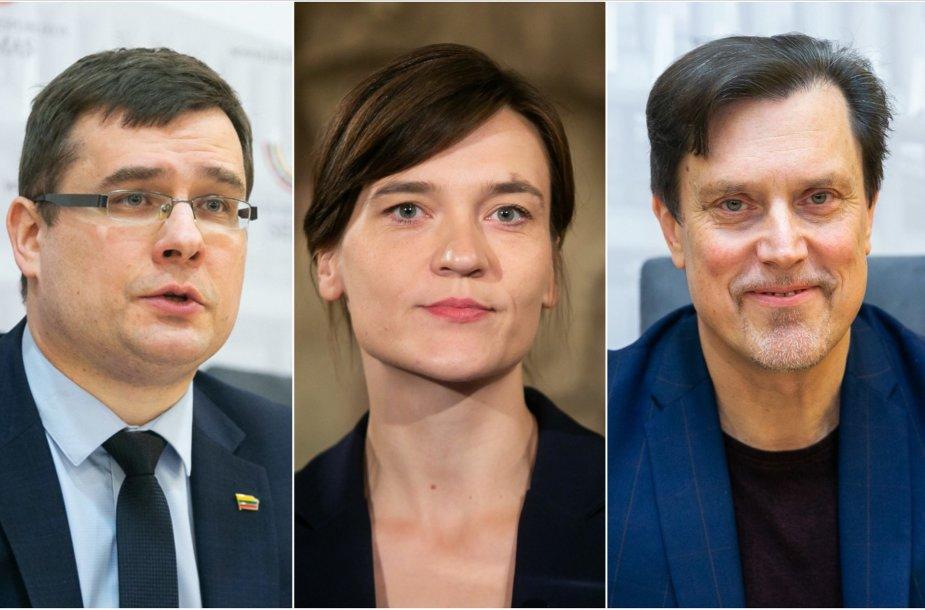 Laurynas Kasčiūnas, Radvilė Morkūnaitė-MIkulėnienė, Vytautas Juozapaitis