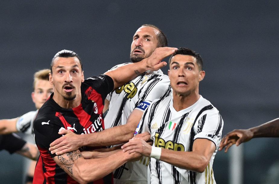 Zlatanas Ibrahimovičius, Giorgio Chiellini ir Cristiano Ronaldo
