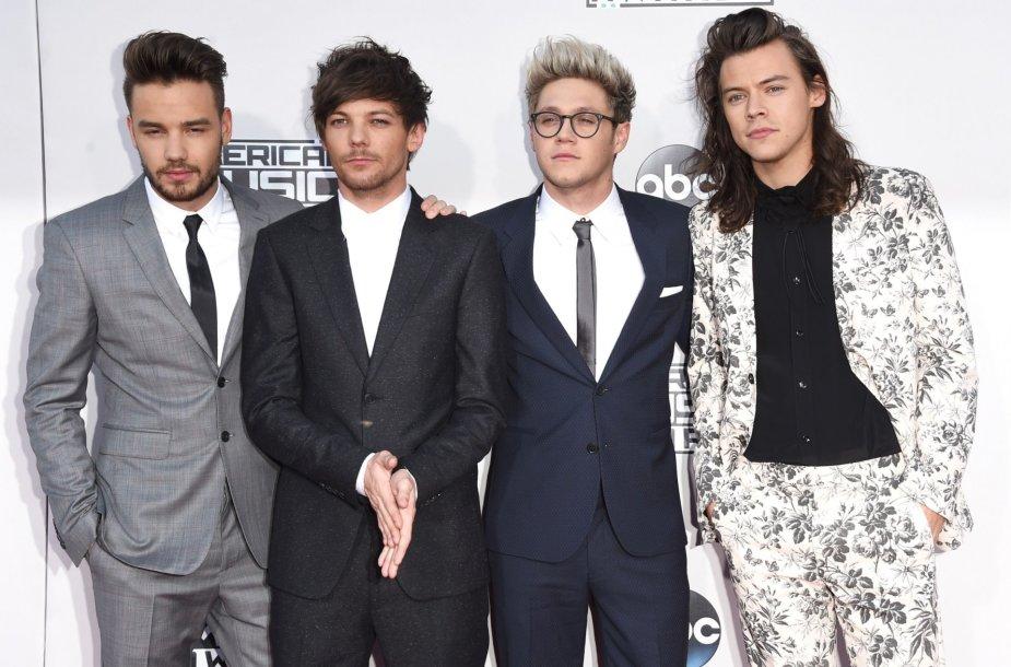 """""""One Direction"""" (iš kairės): Liamas Payne'as, Louisas Tomlinsonas, Niallas Horanas ir Harry Stylesas"""
