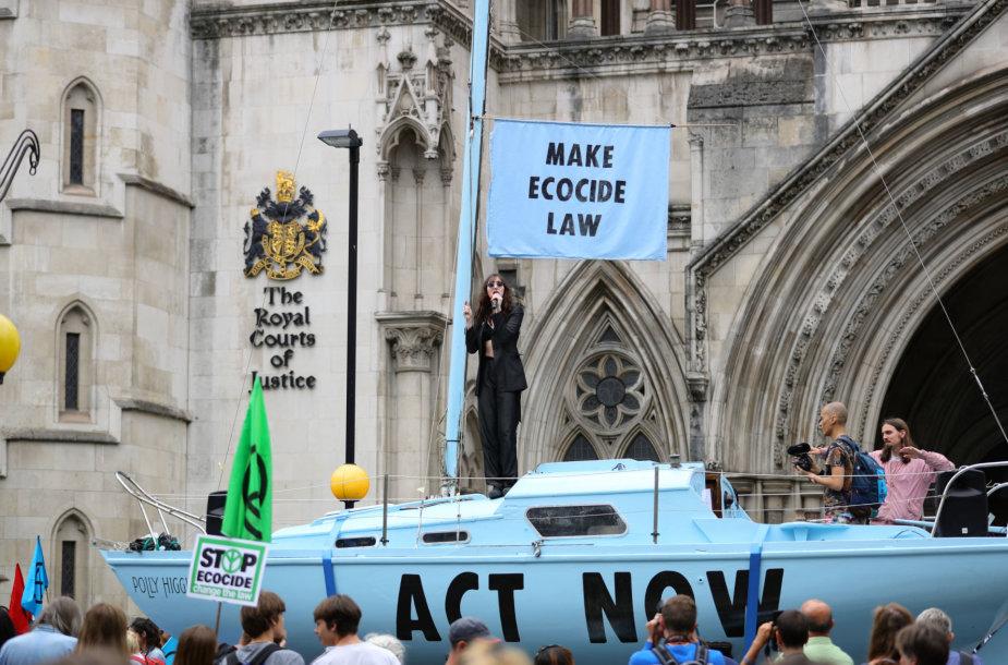 """""""Extinction Rebellion"""" šalininkų protestas Londone"""