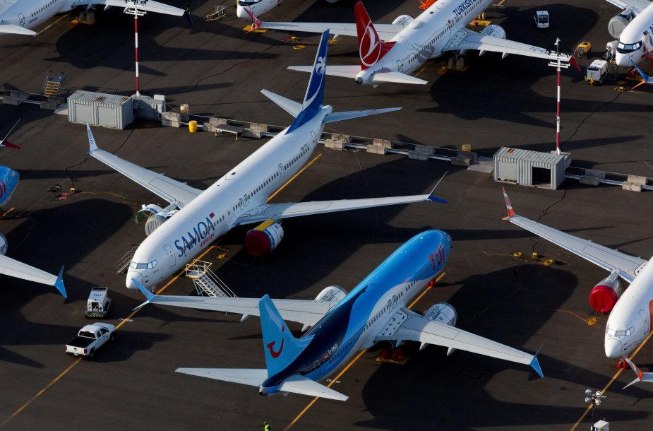 """""""Boeing 737 MAX"""" lėktuvai"""