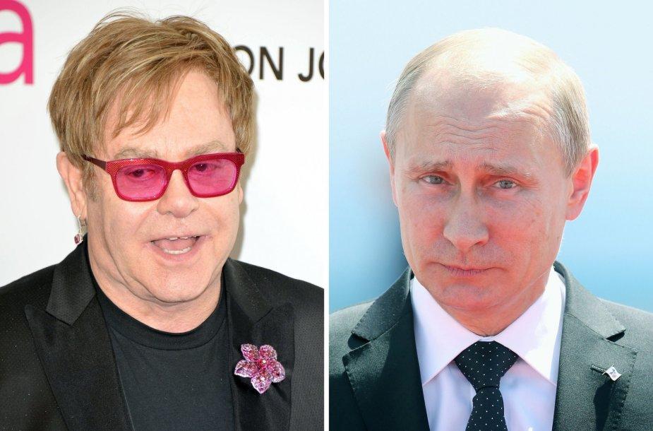 Eltonas Johnas ir Vladimiras Putinas