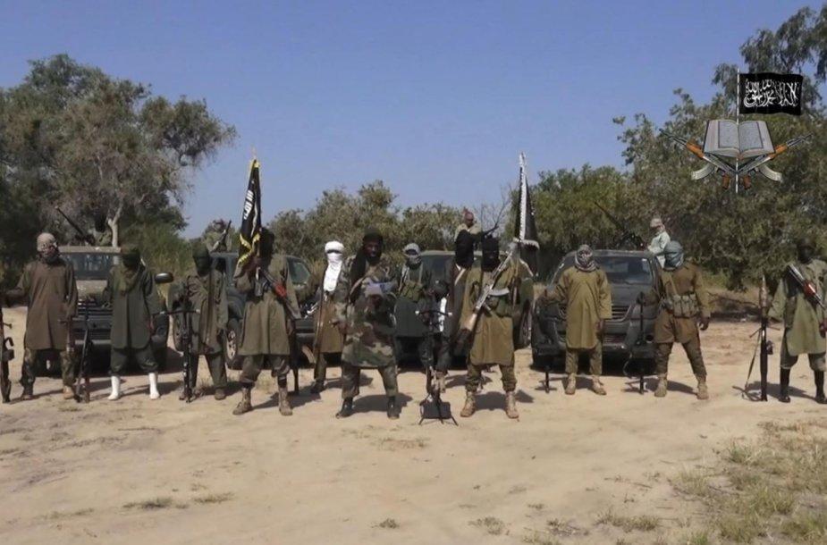 """""""Boko Haram"""" teroristinės grupuotės kovotojai"""