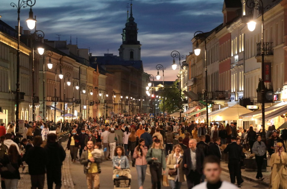 Varšuva per pandemiją