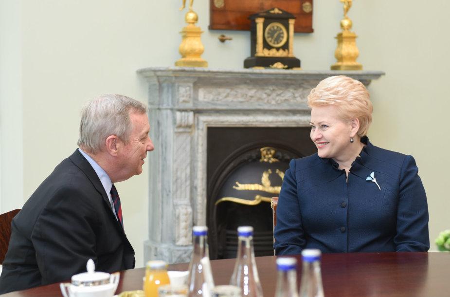 Prezidentė susitinka su JAV senatoriumi Ričardu Durbinu
