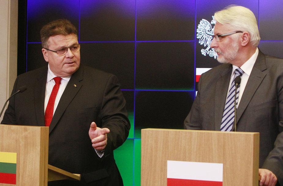 Linas Linkevičius ir Witoldas Waszczykowskis