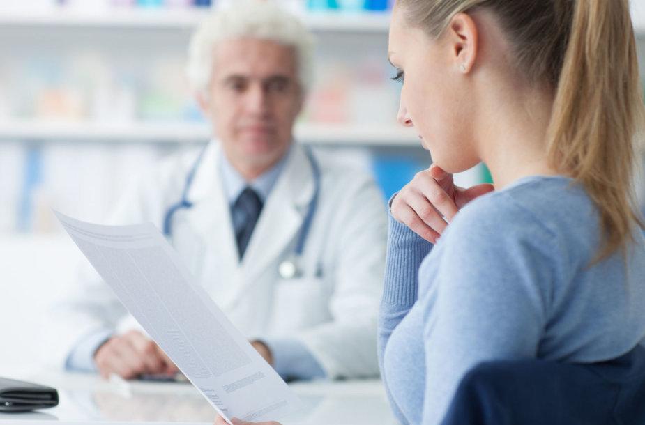 Pacientės vizitas pas gydytoją