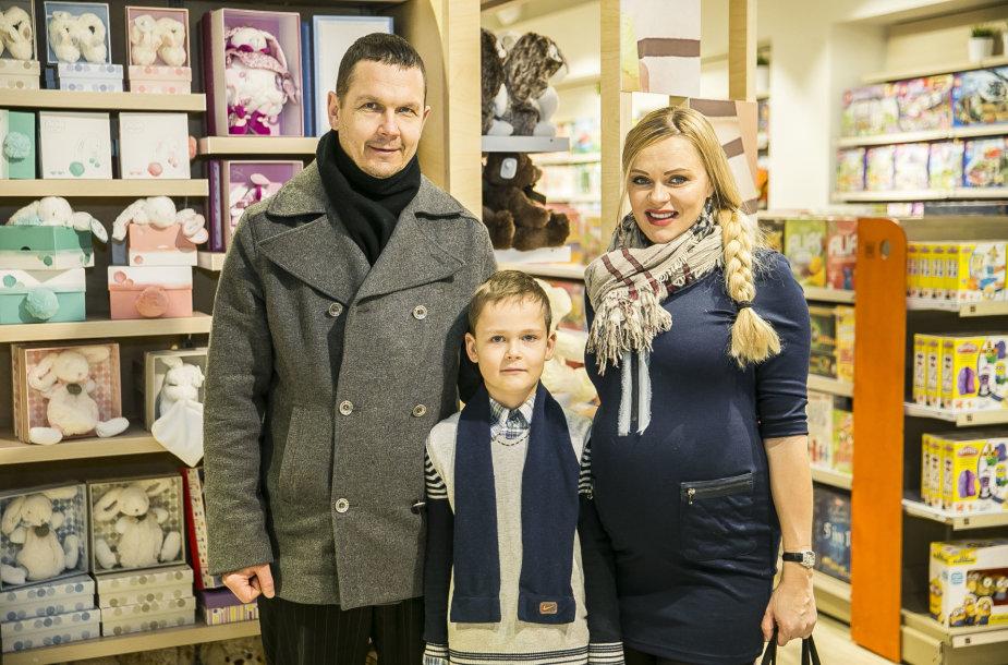 Jurgita Tvarionaitė su šeima