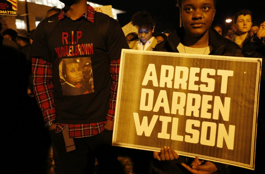 Protestas prieš išteisintą policininką Darreną Wilsoną