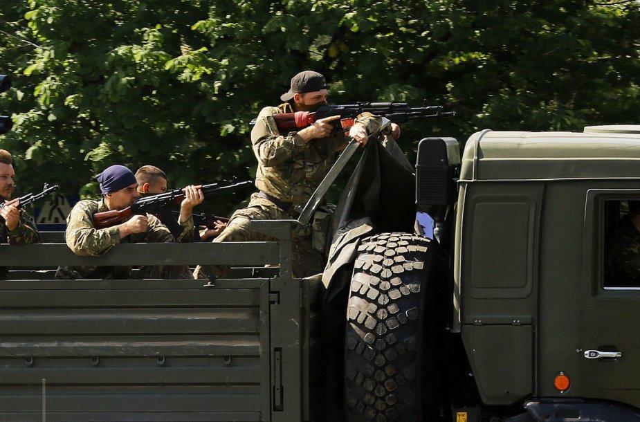 Prorusiški teroristai Donecke