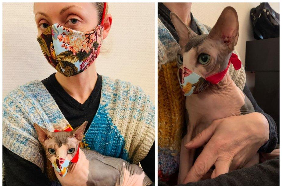 Stilingos Daivos Urbonavičiūtės kaukės – ir žmonėms, ir augintiniams