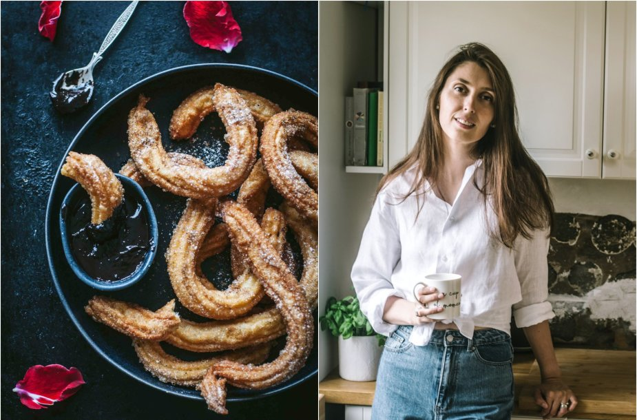 Tinklaraštininkė Jurgita ir jos gamintas desertas