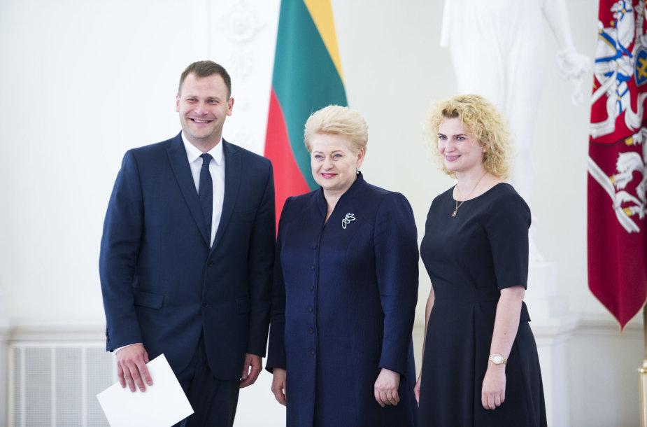 Mindaugas Bilius ir Dalia Grybauskaitė
