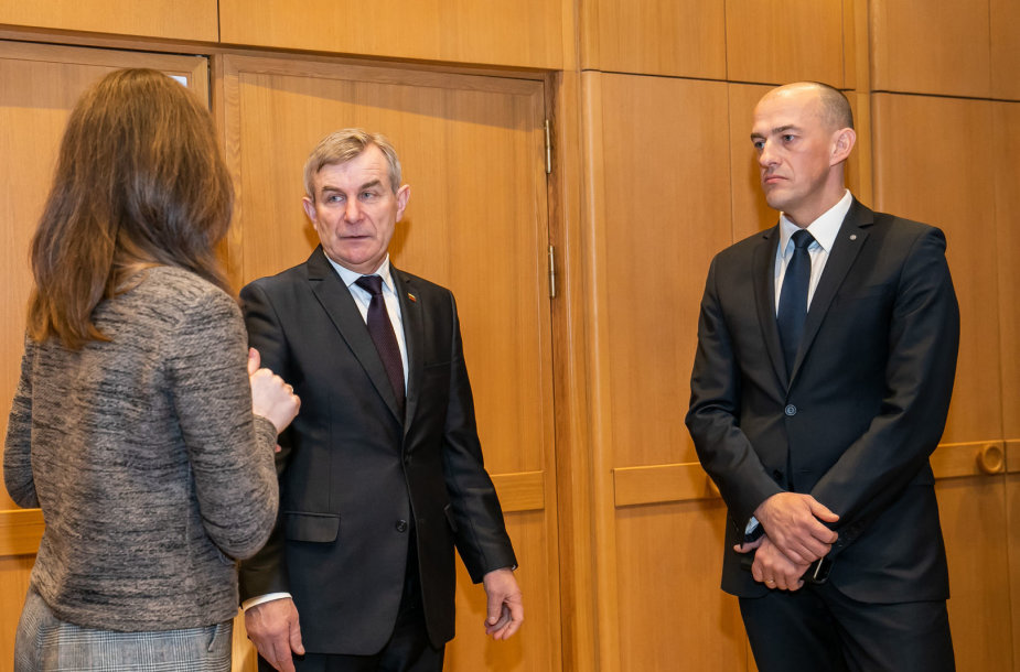 Seimo pirmininko susitikimas su Specialiųjų tyrimų tarnybos direktoriumi Žydrūnu Bartkumi