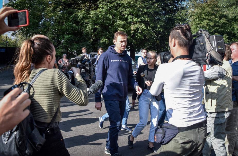 Aleksejus Navalnas: svarbu ne demonstracijų dydis, o tai, už ką balsuojama