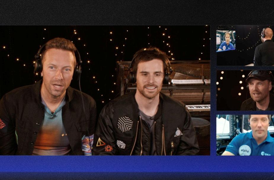 """""""Coldplay"""" per pokalbį su prancūzų astronautu transliavo į kosmosą naują dainą """"Higher Power"""""""