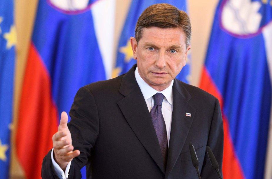 Slovėnijos prezidentas Borutas Pahoras