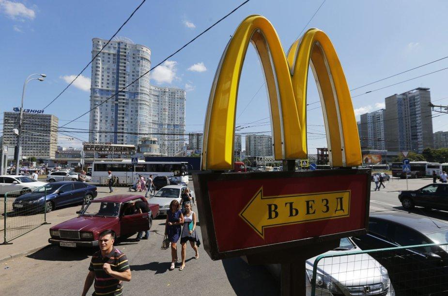 """Maskvoje uždarytas """"McDonald's"""" restoranas"""