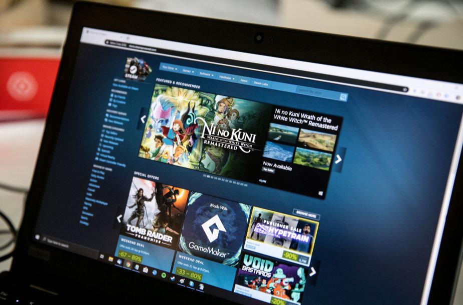 """""""Steam"""" elektroninė žaidimų parduotuvė"""