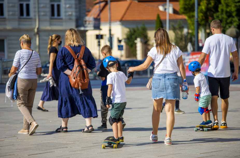 Saulėto šeštadienio Vilniuje akimirka