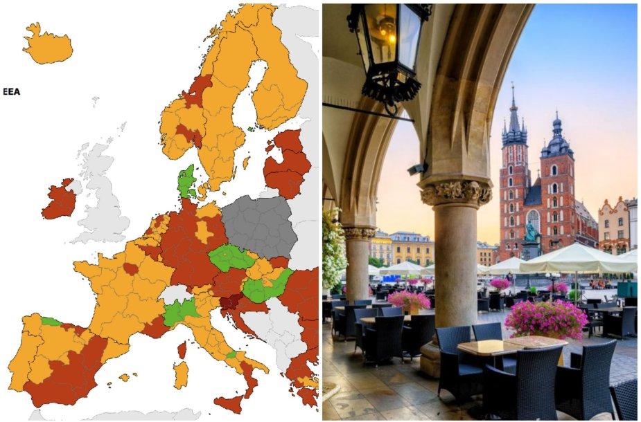 Sergamumas COVID-19 Europos šalyse. Rugsėjo 23 d.