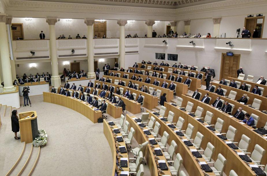 Gruzijos parlamento pirmas plenarinis posėdis