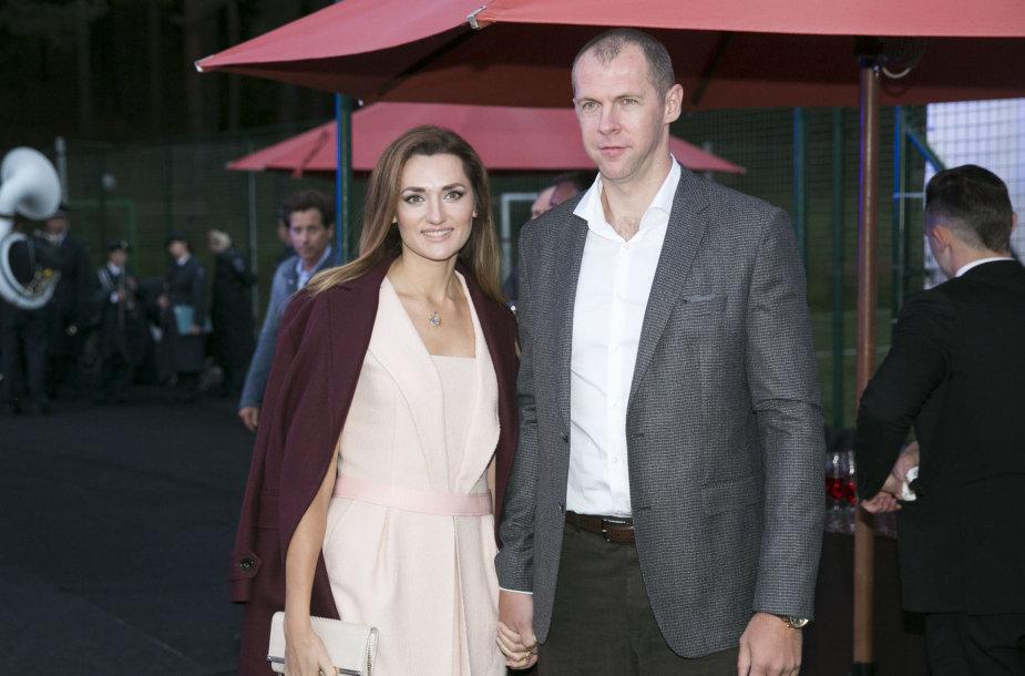 Ramūnas Šiškauskas su žmona Edita
