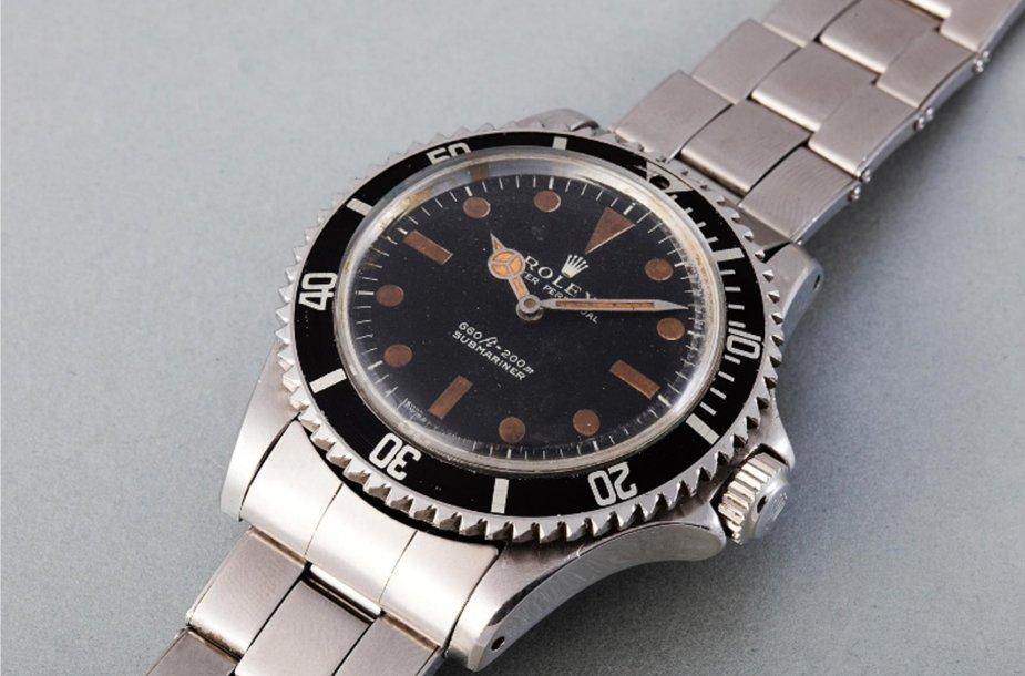 """""""Rolex"""" laikrodis, kurį Rogeris Moore'as dėvėjo vaidindamas Džeimsą Bondą filme """"Gyvenk ir leisk mirti"""""""