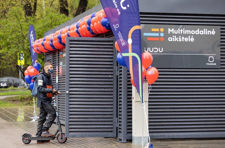 Vilniuje atidarytos multimodalinės aikštelės