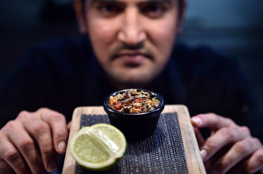 Australijoje populiarėja restoranai siūlantys patiekalus su vabzdžiais