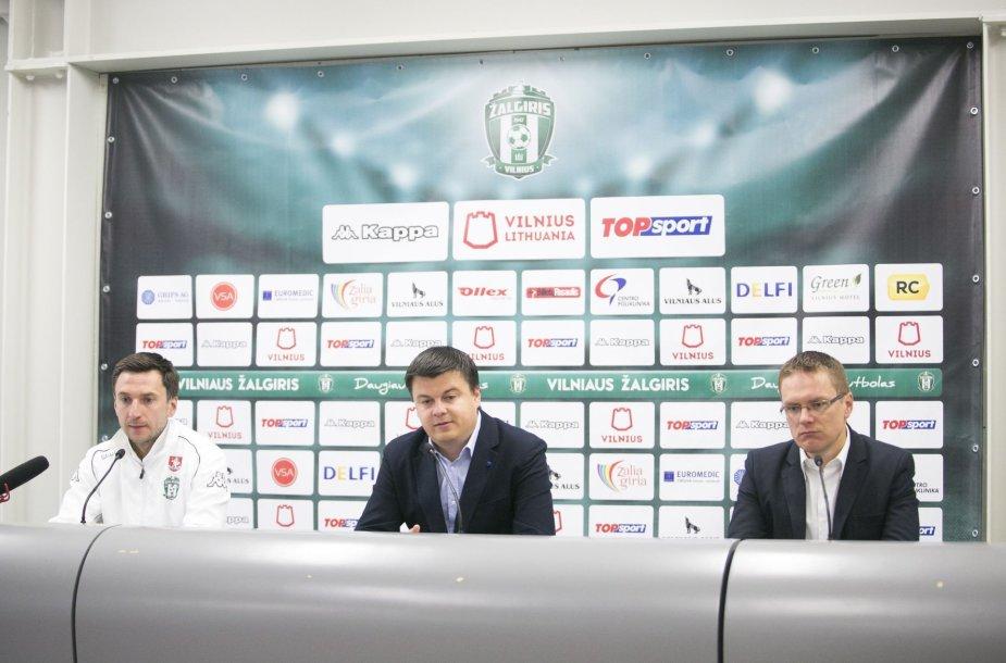 """Vilniaus """"Žalgirio"""" spaudos konferencija"""
