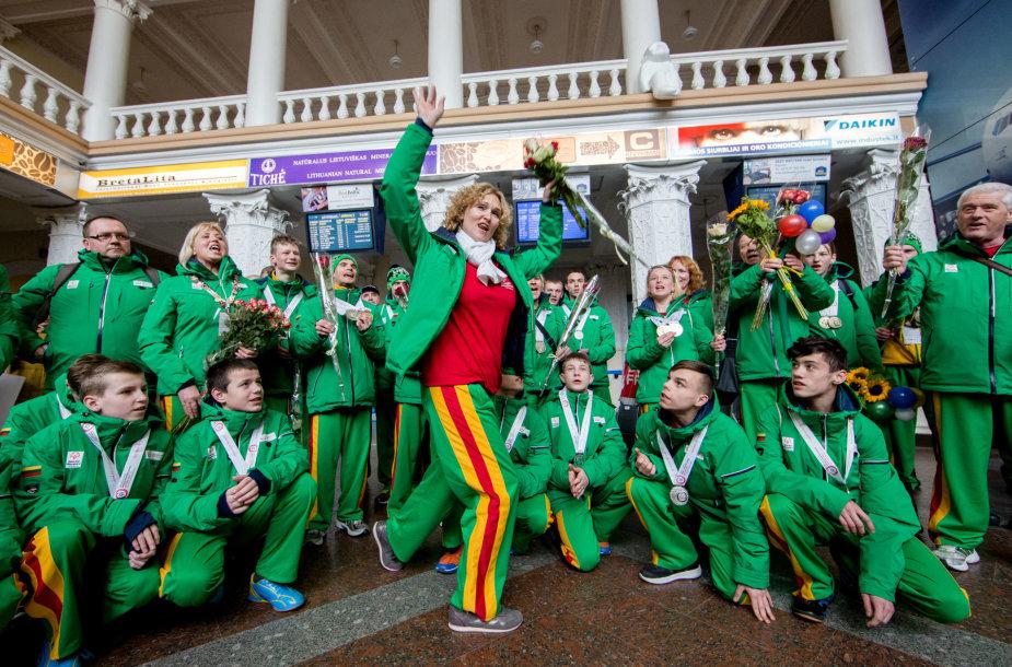 Specialiosios olimpiados dalyvių sutiktuvės