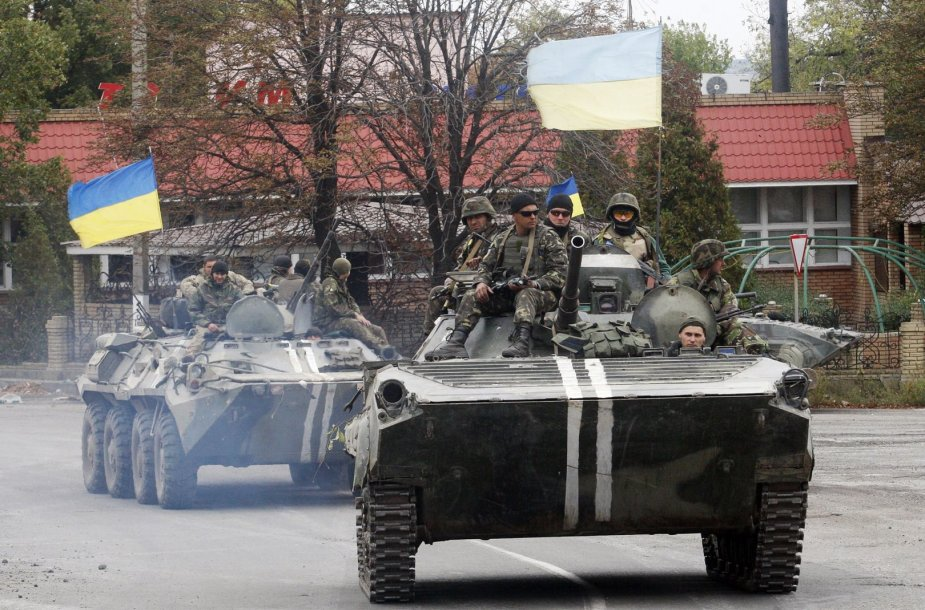 Ukrainos kariai Delbacevo mieste