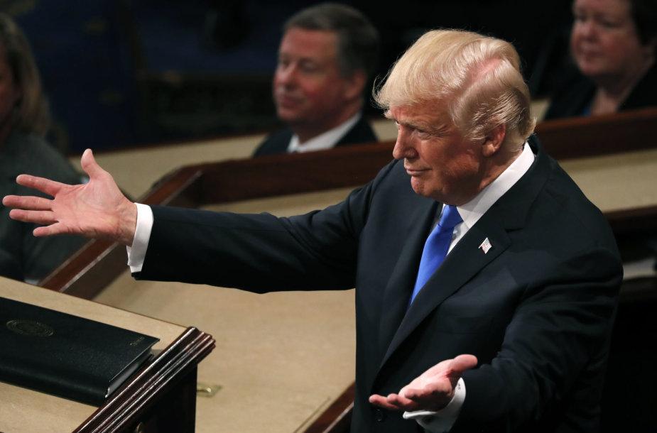 JAV prezidento Donaldo Trumpo  pirmasis metinis pranešimas