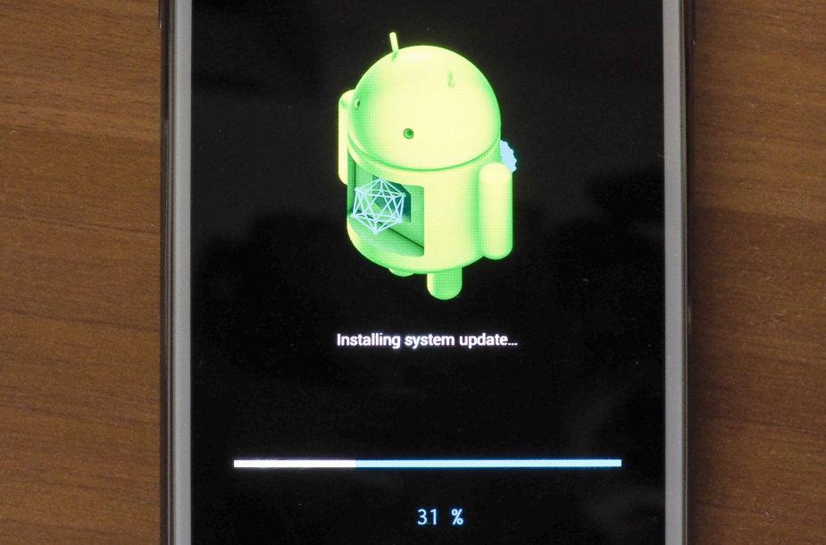 """""""Android"""" operacinės sistemos atnaujinimas"""