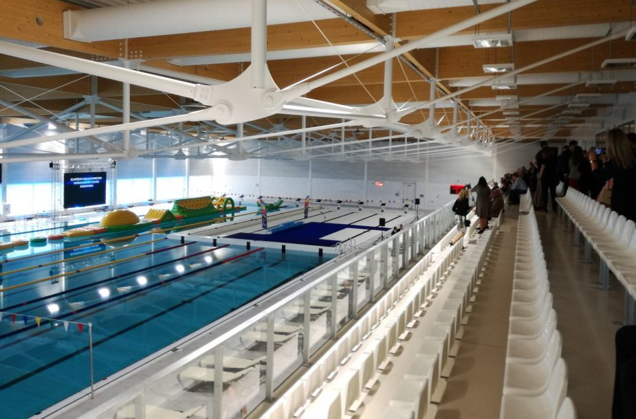 Klaipėdoje atidarytas ilgai lauktas baseinas