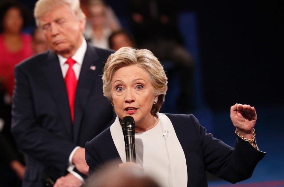 Donaldo Trumpo ir Hillary Clinton antrieji debatai
