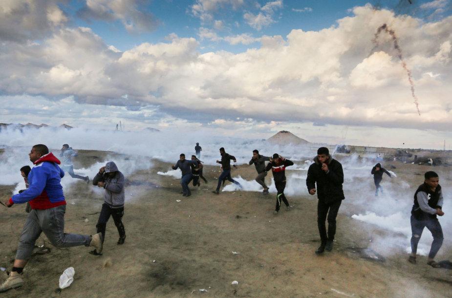 Gazos Ruožo ir Izraelio pasienyje atsinaujino protestai