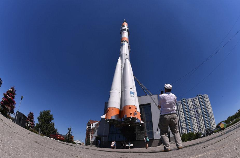 """Rusiška raketa-nešėja """"Sojuz"""""""