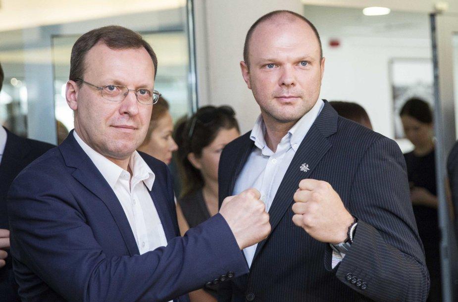 Naglis Puteikis ir Kristipas Krivickas