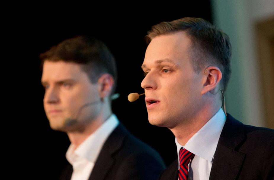 Mykolas Majauskas ir Gabrielius Landsbergis