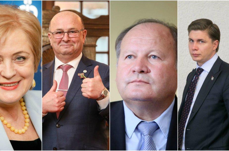 Nijolė Dirginčienė, Visvaldas Matijošaitis, Valerijus Makūnas ir Mindaugas Sinkevičius